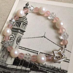 Jewelry - Pretty Pink Beaded Bracelet